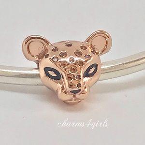 Authentic PANDORA Sparkling Lion Princess Charm